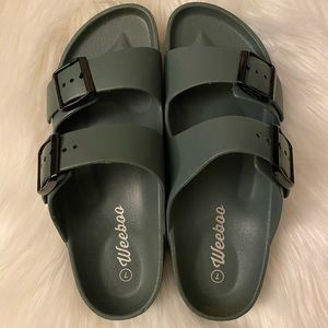 Size 7  Brand new double buckle sandals